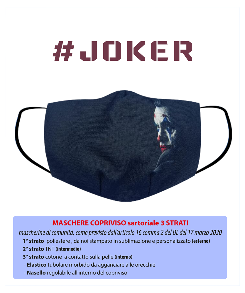 Maschera copriviso joker