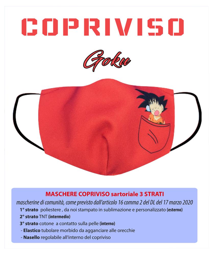 Copriviso Goku