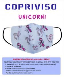 copriviso unicorni