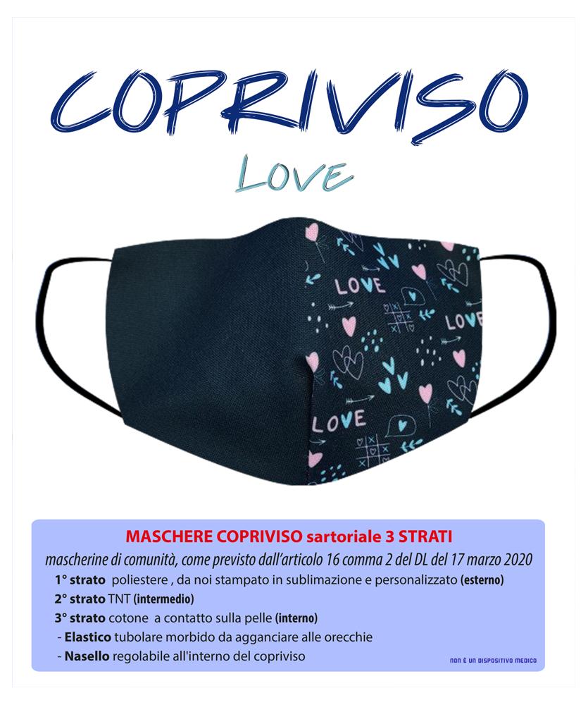 Maschera Copriviso 3 strati